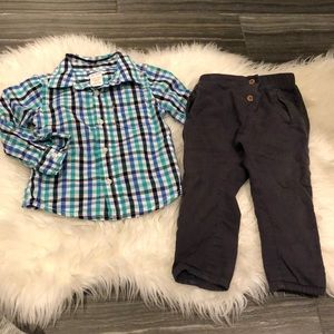 Bundle Joe Fresh shirt & Zara pants (18-24mo)
